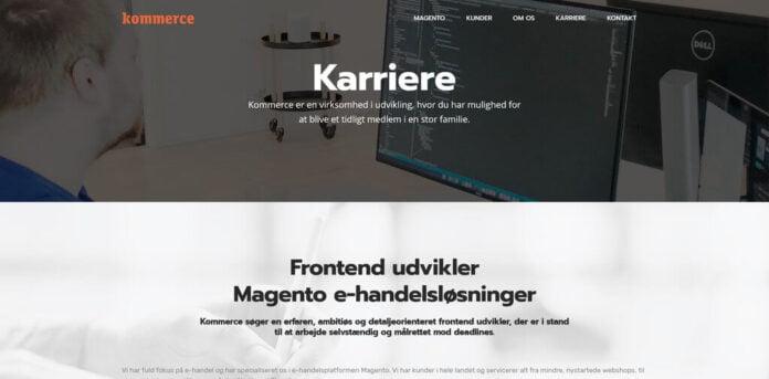 Jobopslag - Frontend udvikler til Magento e-handelsloesninger - Kommerce