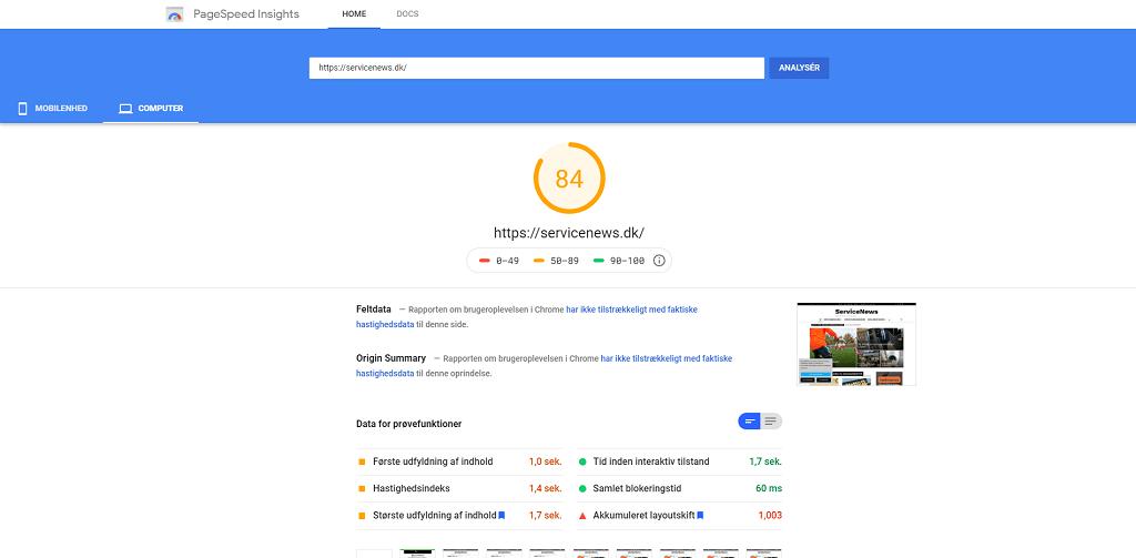 Hastighedstest af hjemmeside - Nyheder fra servicebranchen - ServiceNews